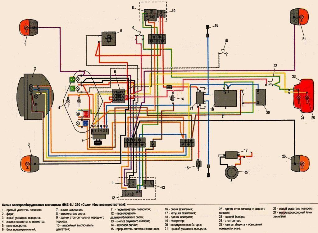 Схема мотоцикла урал 12в 782