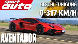 Lambo Aventador LP 750-4 SV 0-300 km/h-0 Highspeed Braking