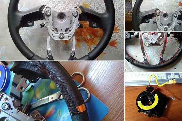 Как сделать руль с подогревом 622
