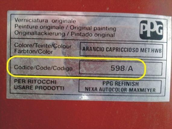 Цвет по vin-коду