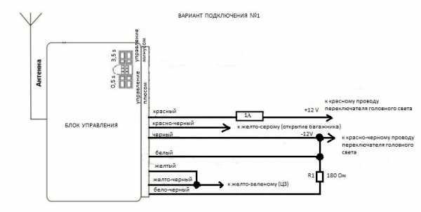 Схемы подключения дистанционного управления центрального замка