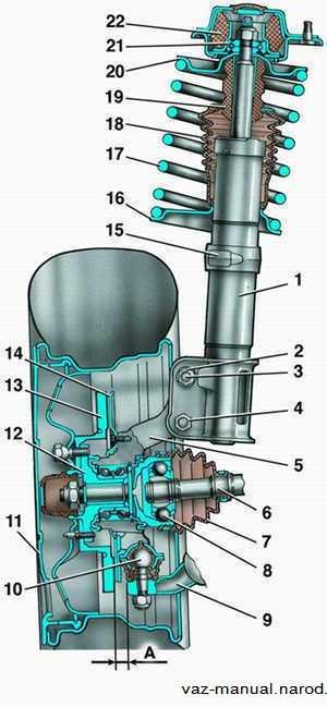 hodovka vaz 2110 shema 1 - Ходовка ваз 2110 схема