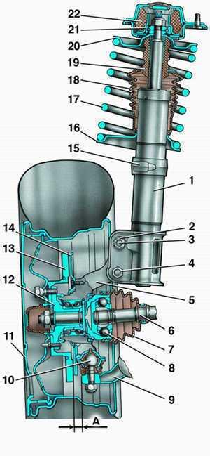 hodovka vaz 2110 shema 4 - Ходовка ваз 2110 схема