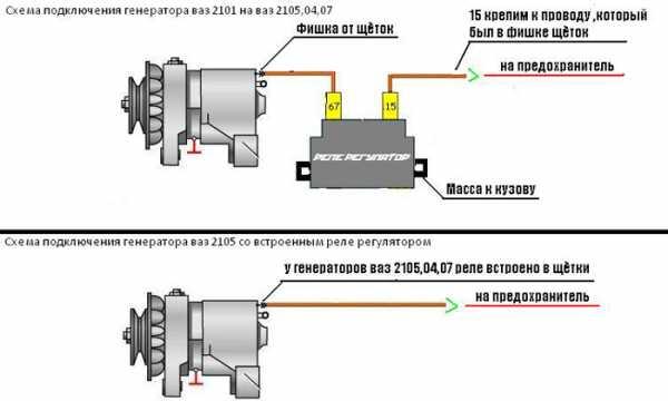 Схема подключения реле регулятора напряжения ваз 2106