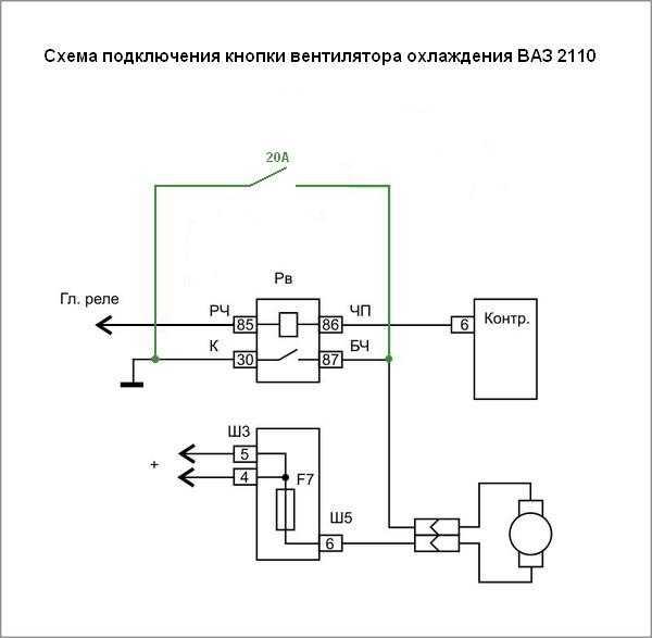 Как сделать включение вентилятора с кнопки